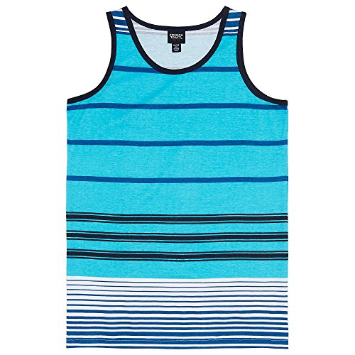 French Toast Boys' Little Striped Tank Top, Turquoise Reef, 4