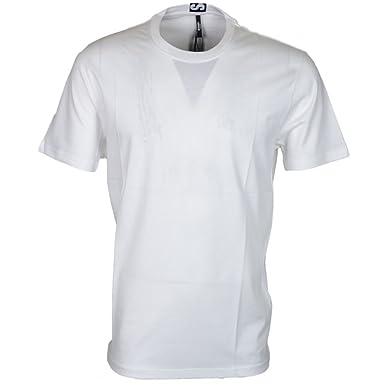 06609287 Versace Versus BU90432 Plain White Extra Long T-Shirt: Amazon.co.uk:  Clothing