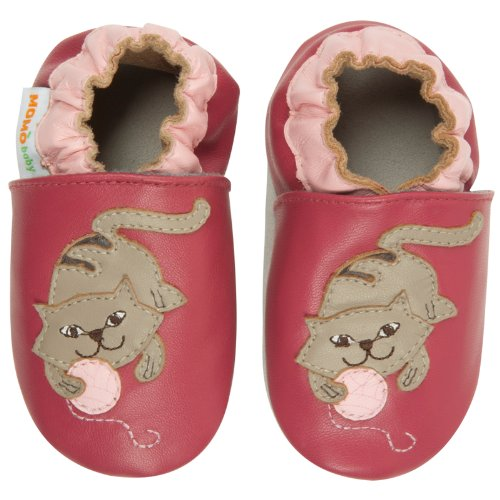 Momo Baby Girls Soft Sole Leather Crib Bootie Shoes - 0-6 Months/1-2.5 M US Infant