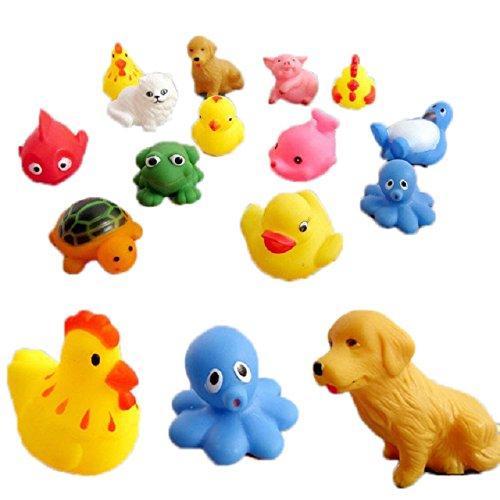 Malloom-13-piezas-caucho-Animales-Con-Sonido-beb-juguetes-ducha-juguetes-para-bao