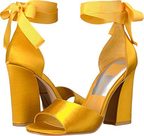 Dolce Vita Mujeres Harvyy Dress Sandal Saffron Satin