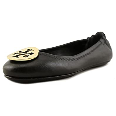 ad4c69d440d5c Tory Burch Women s Minnie Travel Black Nappa Leather Flat 36()-6(US