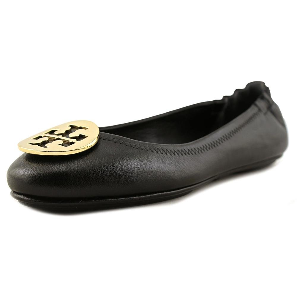 Tory Burch Minnie Travel Ballet Flat Women US 8 Black Ballet Flats