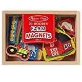 Melissa & Doug 19279 20 Wooden Farm Magnets in a Box