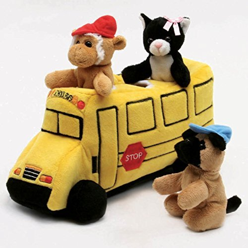 School Bus Pillow - School Bus House with Finger Puppets 10