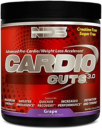 NDS Nutrition Cardio Cuts 3.0 – Advanced Pre-Cardio and Weight Loss Formula with L-Carnitine – Maximum Energy, Greater Endurance, Faster Recovery, Increased Performance – Grape – 40 Servings