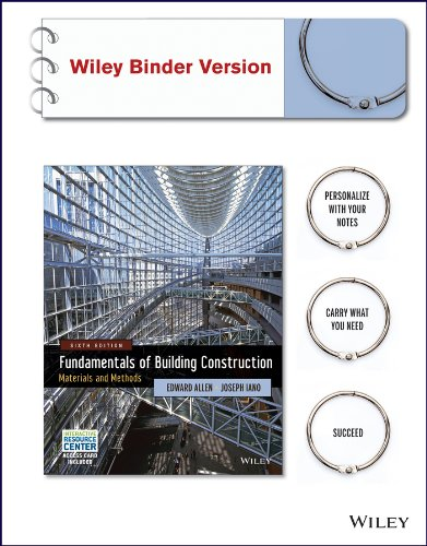 Fundamentals of Building Construction: Materials and Methods with Interactive Resource Center Access Card, 6th Edition Binder Ready Version