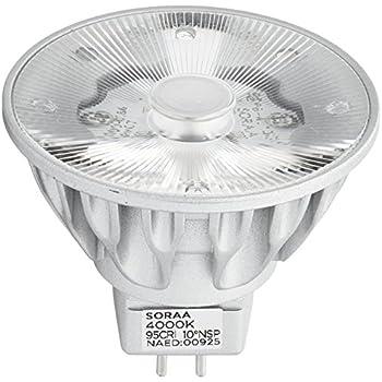 Bulbrite SM16-07-10D-940-03 SORAA 7.5W LED MR16 4000K VIVID3 10° DIM Silver