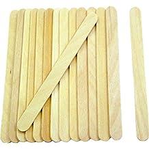 """Popsicle de incienso, 200pc, 4–1/2"""" de longitud, aprobado por la FDA Ice Cream Sticks de madera, de calidad alimentaria gran Sticks para manualidades, por fedmax."""