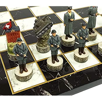NO BOARD World War 2 US vs GERMANY Set Chess Men Pieces ww2