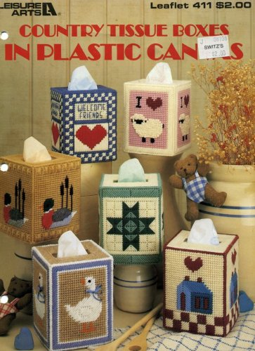 Country Tissue Boxes in Plastic Canvas (Leaflet 411)