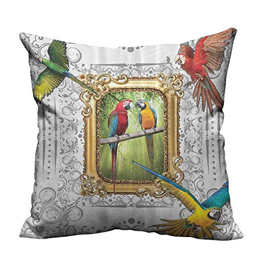 Modern Fashion Cushion Cover Paintings Ideas French Country Home Bathroom Handmade Drawing Effect Resists Dust Mites(Double-Sided Printing) 20x20 -