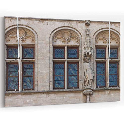Fragment of The City Hall in Leuven Canvas Prints Wall Art for Modern Home Decor