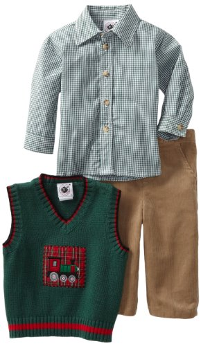 Good Lad Baby Boys' Sweater Vest Set, Green, 18