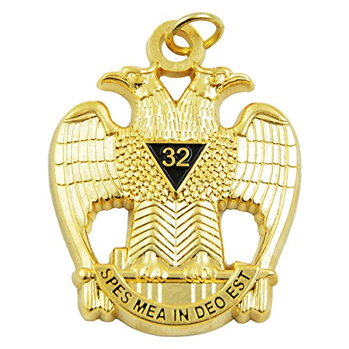 Masonic Scottish Rite Jewel - The Masonic Exchange 32nd Degree Double Headed Eagle Scottish Rite Gold Pendant/Jewel - 1 1/2