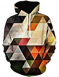 Men's Stylish 3D Digital Print Pullover Hoodies Hooded Sweatshirt