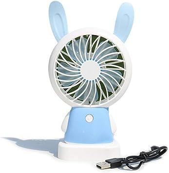 Erisl - 1 Ventilador eléctrico portátil con Carga USB de Dibujos ...