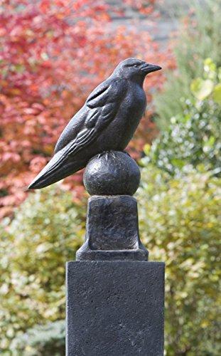 Campania International A-360-TN Raven Statue, Terra Nera - Campania Cast Animal Stone
