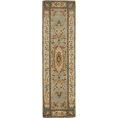 Safavieh Bergama Collection BRG174A Handmade Light Blue and Ivory Premium Wool Runner (2'3
