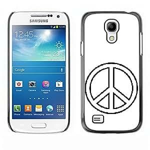 Custom Designed Slim PC Sleek Case Cover Armor Shell peace symbol sign hippie simple Samsung Galaxy S4 Mini i9190 MINI VERSION! ka ka case