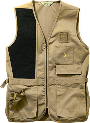 Bob-Allen 30167 240S Shooting Vest, Right Handed, Khaki, Large