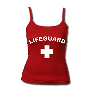 568f8b0fa632 Image Unavailable. Image not available for. Color  Womens Red Lifeguard  Tank Top-Large