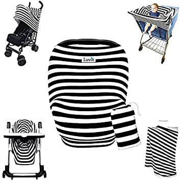 Stretchy Stripes 5-in-1 Baby Car Seat Canopy Stroller Canopy Shopping  sc 1 st  Amazon.com & Amazon.com: Stretchy Stripes 5-in-1 Baby Car Seat Canopy Stroller ...