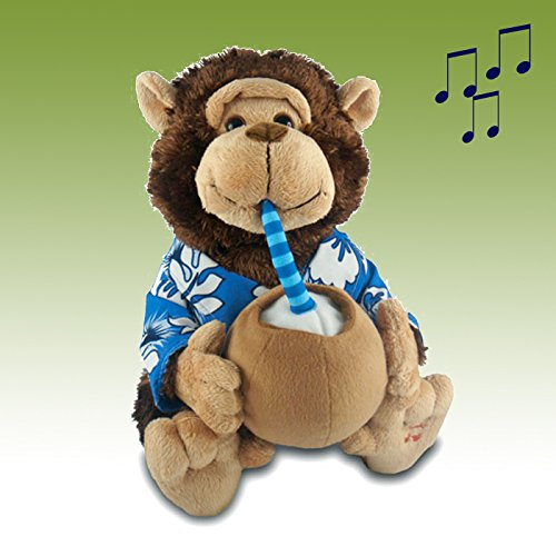 Musical''Pina Colada'' Monkey - A Cute & Decorative Gift for Anyone by Center Gifts