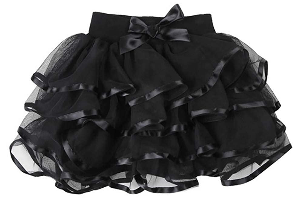 Martofbaby Little Big Girls Tulle Tutu Skirt Fluffy Layered Holiday Party Dress Up Skirts 2-13 Years