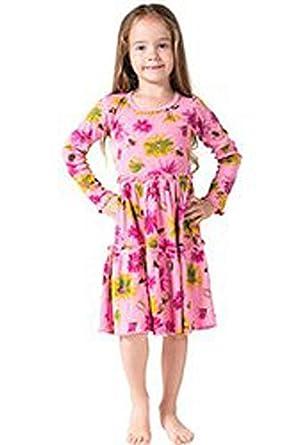 72ee646afafd Amazon.com  Mignone Little Girls  Long Sleeve Dress  Clothing