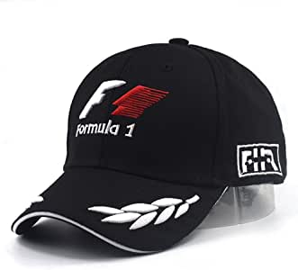 VIIMON Hombres de Fórmula 1 Gorras de Béisbol Negro F1 3D Bordado ...