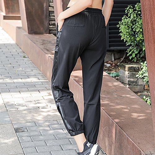 Printemps Pant Femme Casual Gym Noir Jogging Rayures Lisli Fille Fintess Legging Et Collant Sport Pantalon RwxEUIq7FS