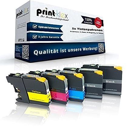 5x cartuchos de tinta compatibles para Brother LC121 LC123 DCP ...