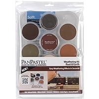 Colorfin PanPastel Ultra Soft Artist Pastel Set, 9 ml, intemperismo, óxido /tierra, paquete de 7