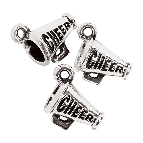 Fun Express - Cheer Charms - Craft Supplies - Adult Beading - Charms - 12 Pieces