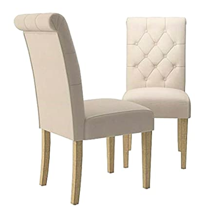 Amazon.com - Wooden Dining Chairs with Padded Seat Wooden ...