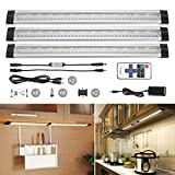 Kitchen Lighting Over Sink Under Cabinet Lighting,TryLight Dimmable 3 Panels Kit, 3000K Warm White 12W Total,24W Fluorescent Tube Equivalent,With Remote Control Led Under Cabinet Lights