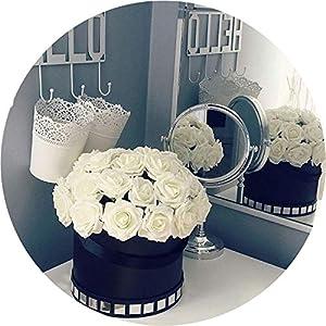 Get-in 25 Heads 8CM New Colorful Artificial PE Foam Rose Flowers Bride Bouquet Home Wedding Decor Scrapbooking DIY Supplies 5