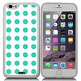CocoZ? New Apple iPhone 6 s 4.7-inch Case Beautiful mint green Polka Dot pattern TPU Material Case (Transparent TPU & Polka Dot 8)