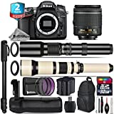 Holiday Saving Bundle for D7100 DSLR Camera + 650-1300mm Telephoto Lens + AF-P 18-55mm + 500mm Telephoto Lens + Battery Grip + 2yr Extended Warranty + 32GB Class 10 Memory - International Version