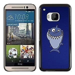TopCaseStore / la caja del caucho duro de la cubierta de protección de la piel - Funny Troll Lol Shark - HTC One M9