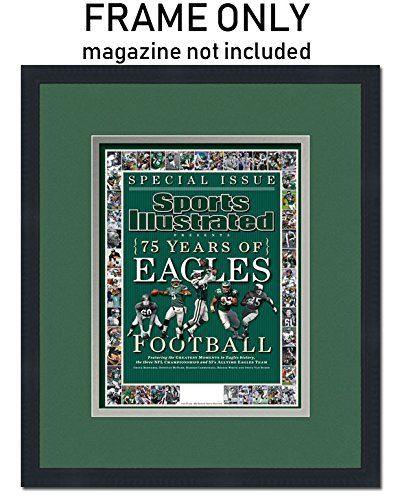 Sports Photo Frame (Sports Illustrated Magazine Frame - with Philadelphia Eagles Colors Double Mat)