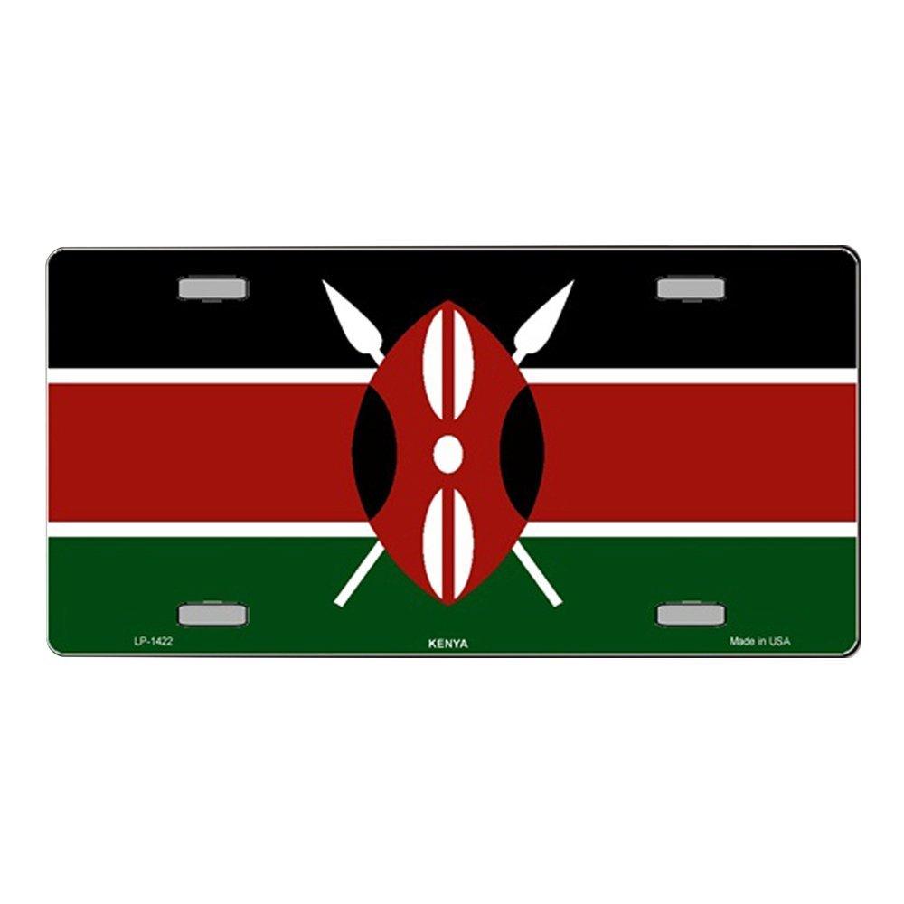 Ganheuze Smart Blonde Kenya Flag Vanity Metal Novelty License Plate Tag Sign