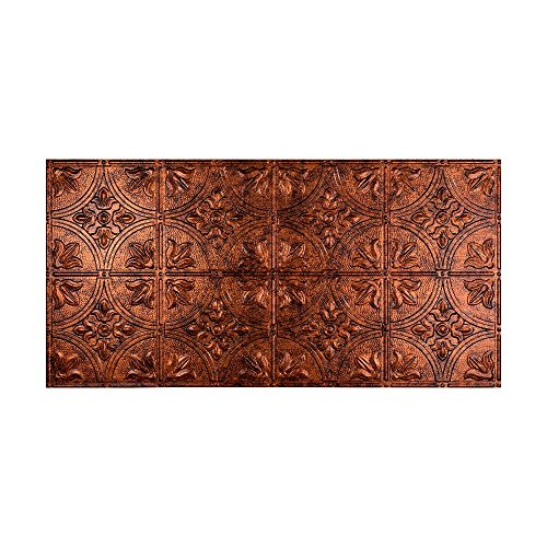 Fasade Easy Installation Traditional 2 Moonstone Copper Glue Up Ceiling Tile / Ceiling Panel (2' x 4' Panel) ()