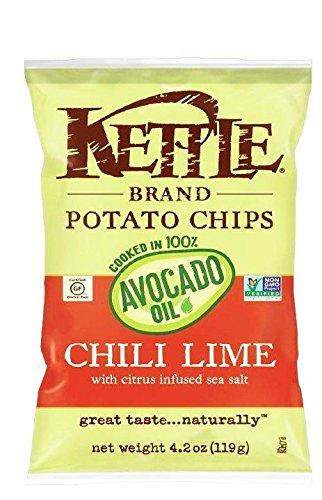 Kettle Chili (Kettle Brand Potato Chips Cooked in 100% Avocado Oil, 4.2oz (Chili)