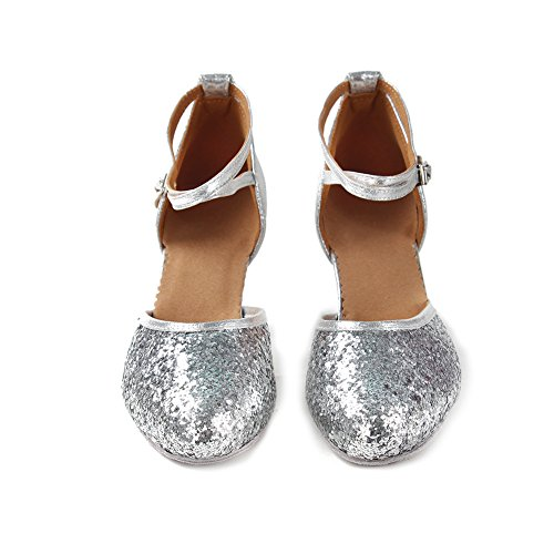 Shoes YKXLM Model Salsa Latin Women's Shoes Ballroom Performance Standard Bright Silver WXCL Dance trfrwq