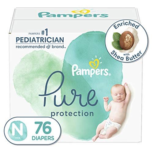 Diapers Newborn/Size 0 (<10 lb), 76 Count - Pampers Pure Protection Size 0