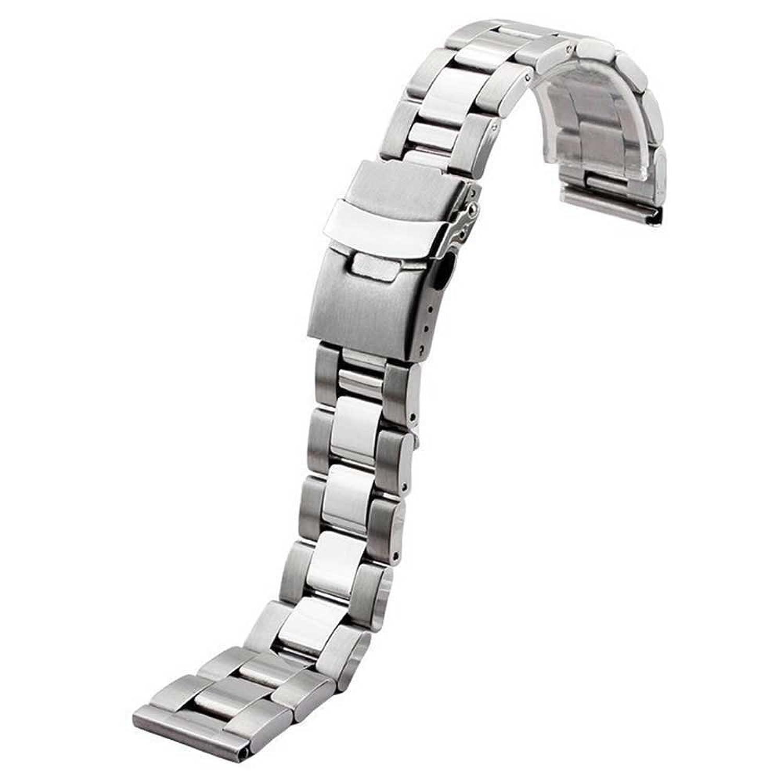 zhuolei 20 / 22 / 24 / 26 mm 3リンクステンレススチール時計バンド汎用for Casio 506、市民、Seikoスタイル 26mm シルバー  シルバー 26mm B078J8XCTF
