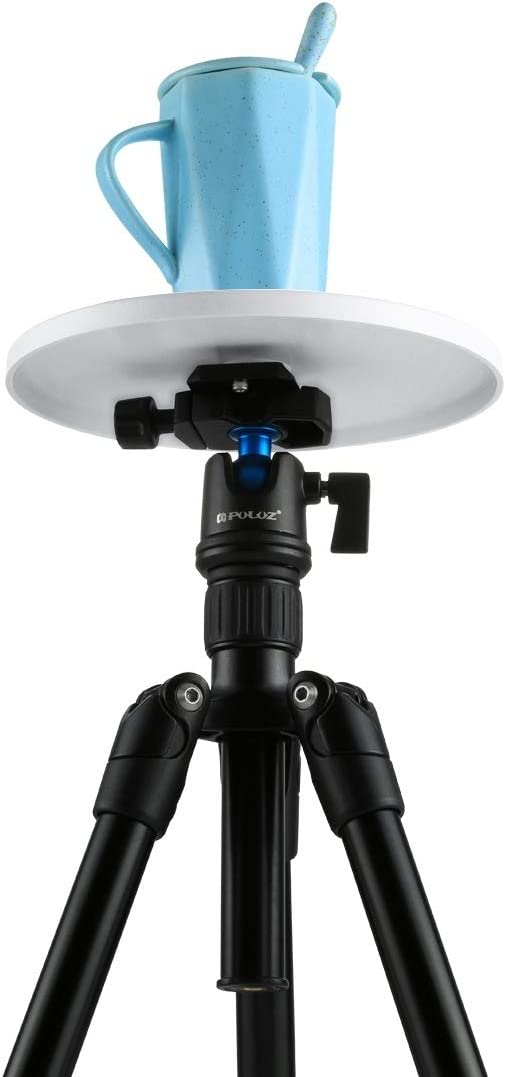 Round Tray with Control Remote for Smartphones Camera Tripod Easy to Install Camera Accessories Electronic 360 Degree Rotation Panoramic Tripod Head Color : Blue Blue GoPro DSLR Cameras