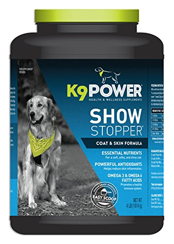 k9-power show stopper - healthy dog coat and skin formula to improve health and appearance - 4 pound